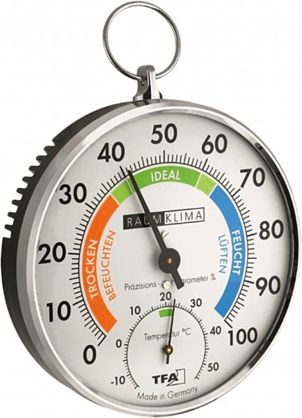 TFA Analoges Thermo-Hygrometer mit Metallring