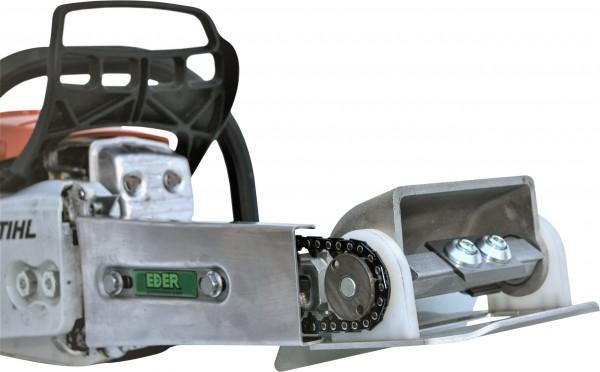 Eder Planhobel-Anbaugerätekopf für Kettenantrieb
