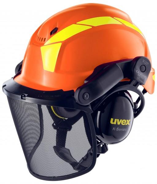 Uvex Kopfschutz-Kombination Waldarbeiterset Pheos Forestry