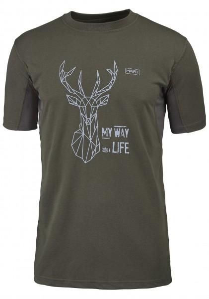 Hart Herren-T-Shirt Branded Hirsch
