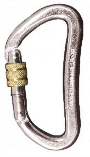 Karabiner D-Schrauber klein Stahl - EN 362