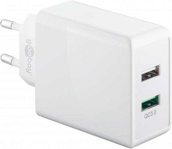 Goobay Dual-USB-Ladegerät QC3.0 28W