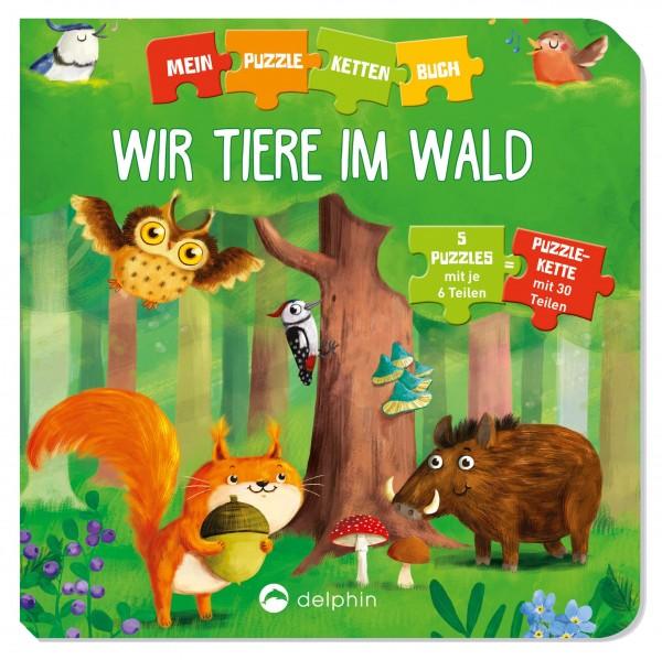 Puzzlekettenbuch - Wir Tiere im Wald