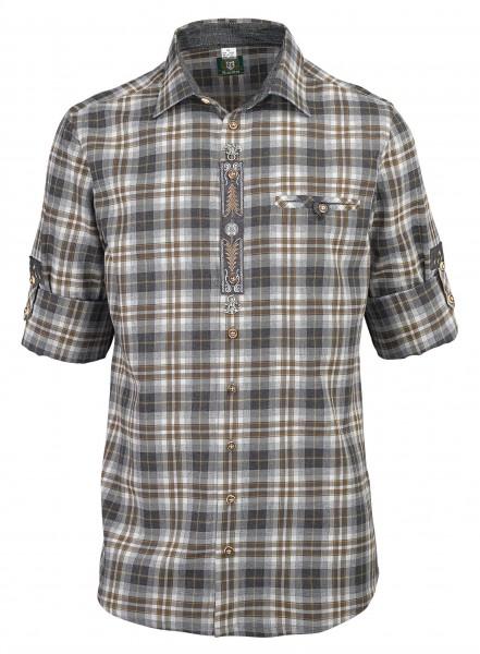 OS-Trachten Herren-Langarmhemd, Slim-Fit