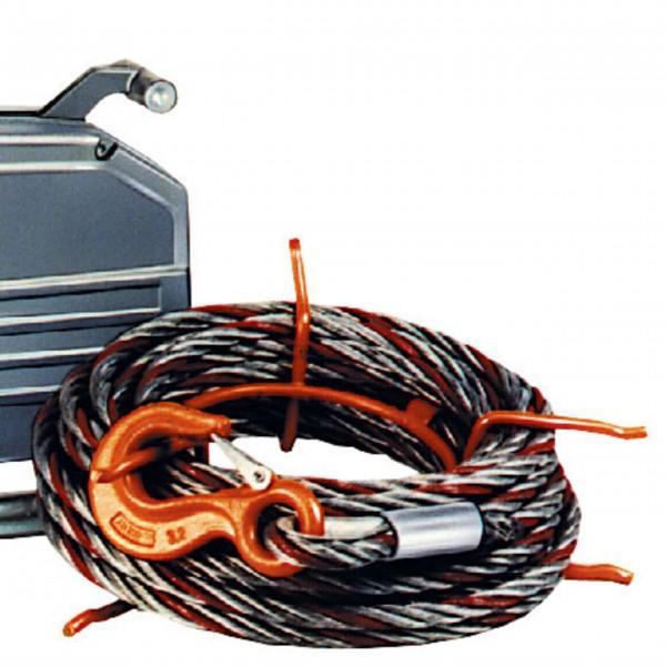 Greifzug-Seil mit Spitze und Haken - 16 mm ø